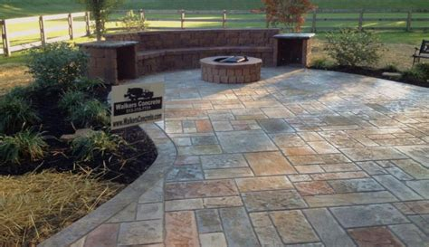 walkers concrete llc sted concrete patio start to finish your concrete contractor company