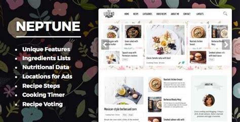 themeforest refund themeforest neptune v4 0 theme for food recipe