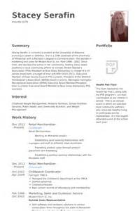 Visual Merchandiser Resume by Merchandiser Exemple De Cv Base De Donn 233 Es Des Cv De