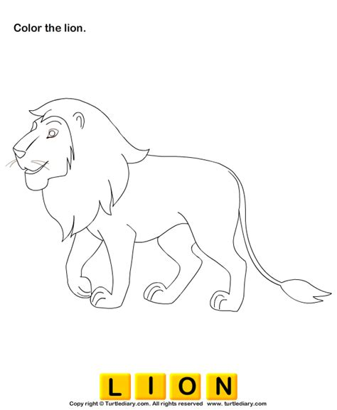 wild animals coloring pages preschool color the wild animals 1 worksheet turtlediary com