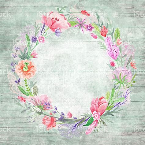 Imagenes Vintage Shabby Chic | shabby chic background with floral wreath stock vector art