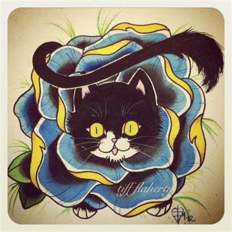 tattoo cat and rose 17 best images about cats i want on my body on pinterest