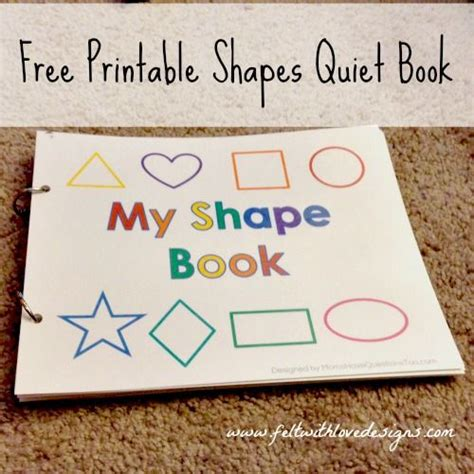 my pattern book kindergarten pinterest projects free printable no sew shapes quiet