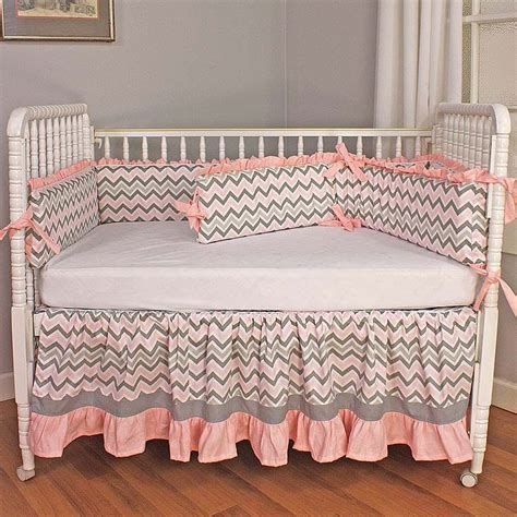 Chevron Pink Crib Bedding Set By Hoohobbers Pink Baby Bedding Sets