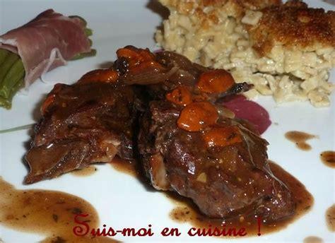 cuisiner un chevreuil saut 233 de chevreuil aux baies de goji suis moi en cuisine