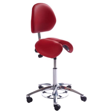 Saddle Chair With Backrest by Jolly Saddle Stool With Backrest