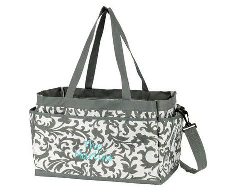 monogrammed large caddy tote nurse bag teacher bag