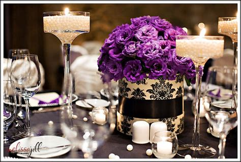 purple and white centerpieces for weddings purple wedding flowers my bridal
