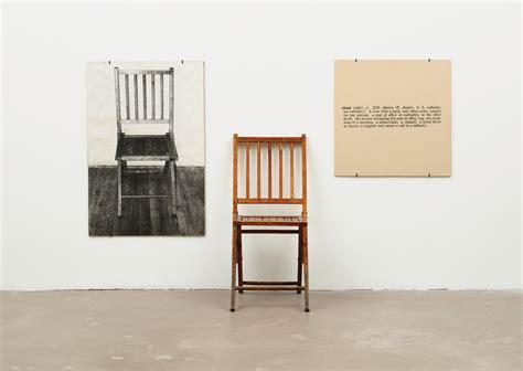 one and three chairs joseph kosuth wikiart org
