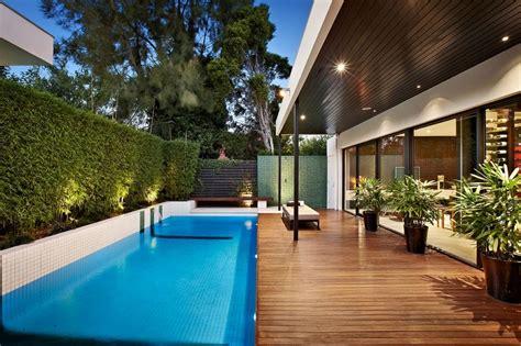 desain denah rumah minimalis ada kolam renang desain rumah oke
