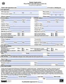 forms templates free kansas rental application form pdf template