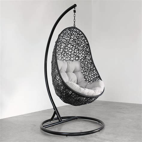egg shaped swing chair nz hanging egg chair black tempt interiors