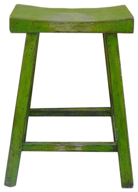green lacquer u shaped bar stool eclectic bar