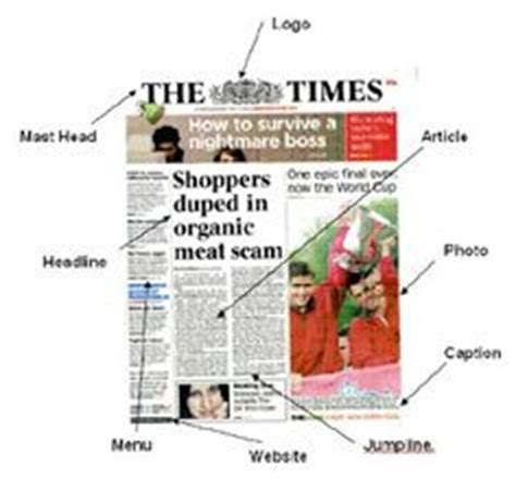 different sections of a newspaper 1000 images about school newspaper on pinterest