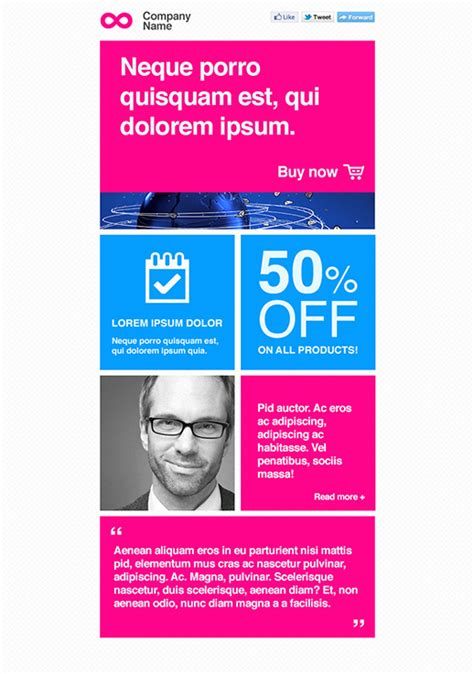 Mlm Newsletter Templates Email Marketing Getresponse Science Newsletter Template