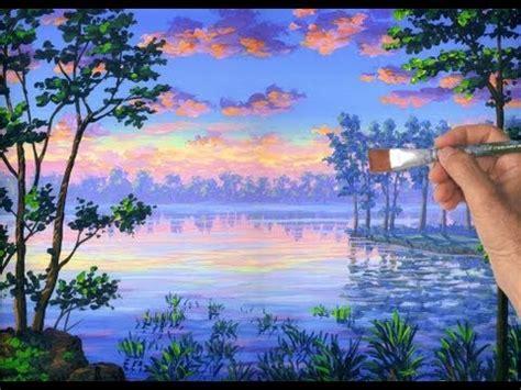 comment peindre un lac avec la peinture acrylique sur