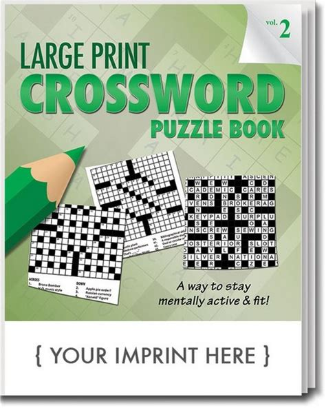 valentines gifts for crossword puzzle book as a valentines day gift for valentines day gifts for or books scs1901 large print crossword puzzle book with custom imprint