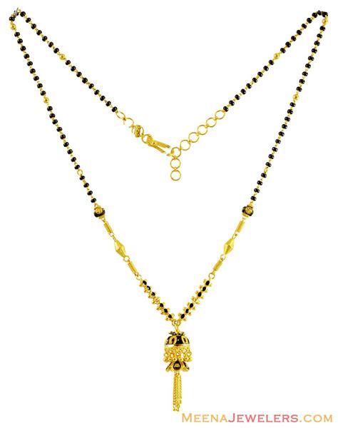 Lasebo 809 Black List Gold 22k gold mangalsutra with jhumki chms14308 us 782