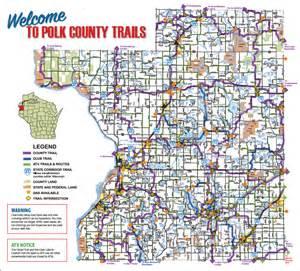 map of polk county polk county wi snowmobile atv club