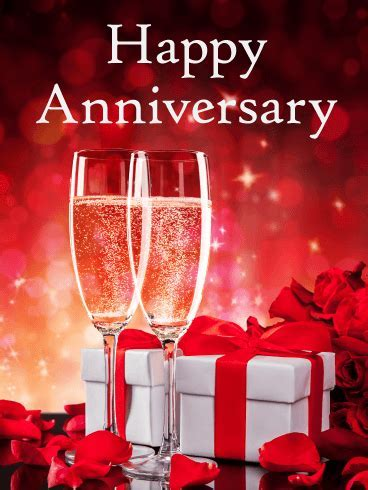 Cheers to the Special Day   Happy Anniversary Card: Raise