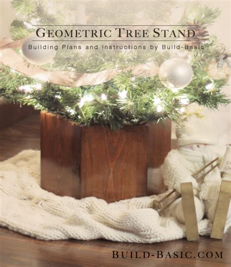 ana white geometric christmas tree stand featuring