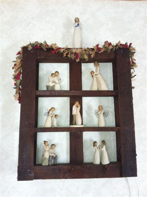 Willow Tree Shelf by Pallet Shelf For Willow Tree Figures Be Creative