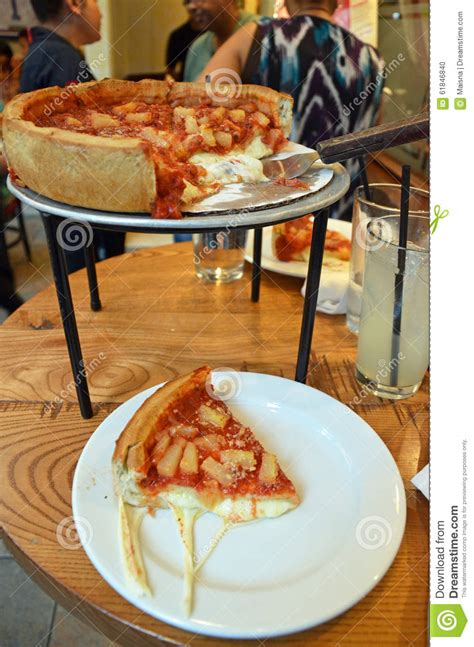 chicago style restaurants chicago style dish pizza editorial image image