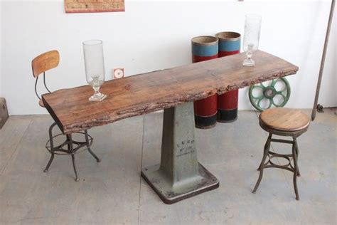 counter height sofa table vintage industrial 76 quot antique bar height counter