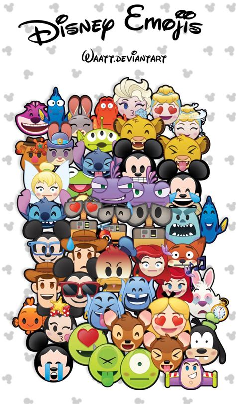 Disney Emoji Wallpaper | disney emoji png by waatt on deviantart