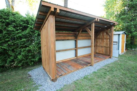 timber frame lean  shed