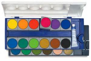 water color set pelikan watercolor and gouache pan sets blick materials