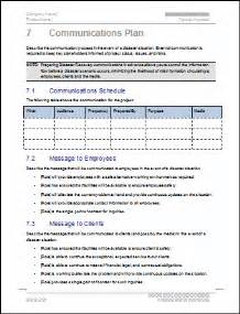 school disaster recovery plan template business continuity plan 48 pg ms word 12
