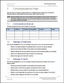 communication plan business continuity communication plan