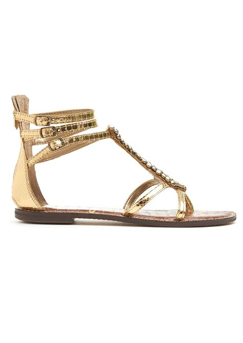 sam edelman gold sandals sam edelman boa embellished sandals gold