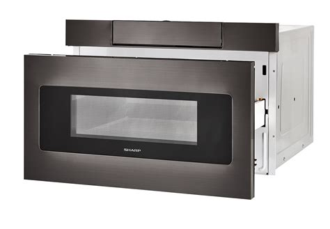 Sharp Easy Open Microwave Drawer by Smd2470ah 24 Quot Black Stainless Steel Microwave Drawer