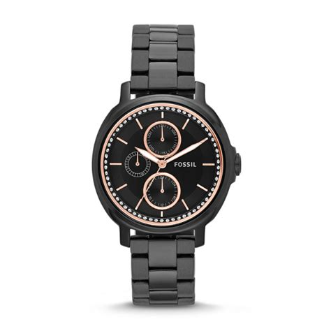 Fossil Chelsey Es3682 chelsey multifunction black stainless steel fossil