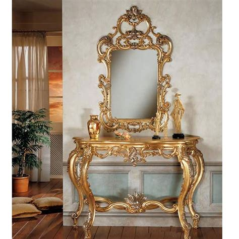 console table design luxury mirror and console table sets