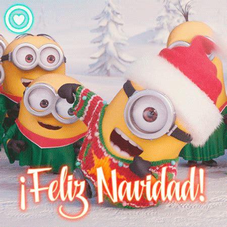bonita imagen de feliz navidad de minion gif de navidad de los minions