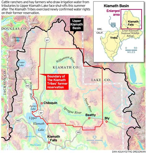 oregon indian reservations map ord to shut surface and ground water to klamath