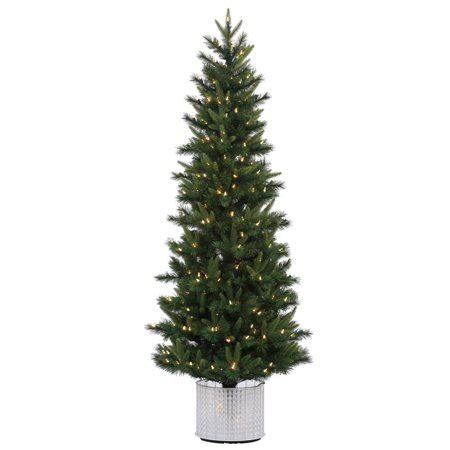 walmart decorative pine trees 6 pre lit potted stockton spruce artificial tree warm white led lights walmart