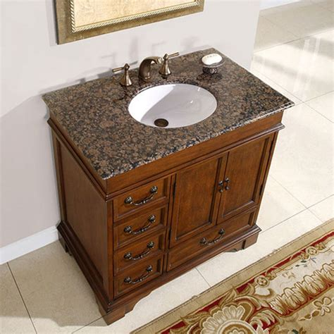 Three Hole Sink One Hole Faucet 36 Inch Single Sink Bathroom Vanity With Granite Counter