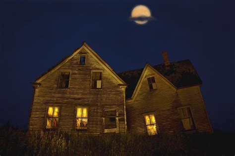 full house nights abandoned house at night under full photograph by john sylvester