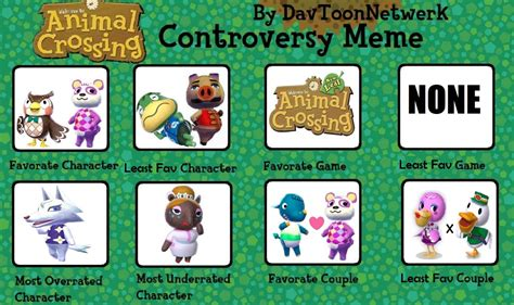 Animal Crossing Meme - animal crossing controversy meme by purfectprincessgirl on