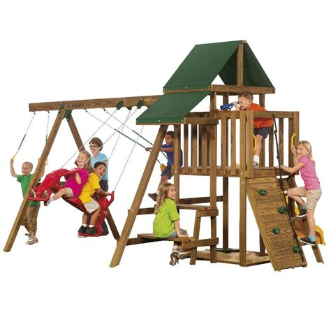 home depot swing n slide swing n slide playsets steeple climber ne 3023 the home