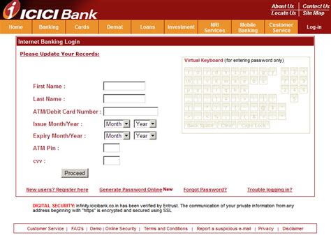 change address in icici bank form september 2016