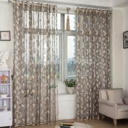livingroom curtains 2015 new arrival window screening tulle leaf nature modern curtains for living room
