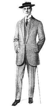 Summer lounge suit, 1912   1913 men's fashion   Mens