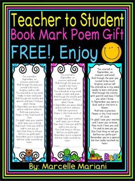 teacher presents to grade 1 students end of the year student book poem gift from to student free from kinderprep on