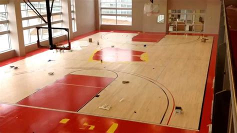 how to build a basketball court in your backyard building the basketball court at the american center youtube