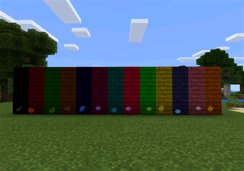 minecraft dye colors colorable planks mod minecraft pe mods addons